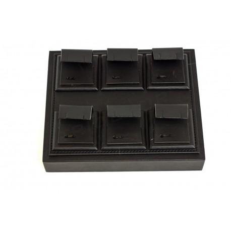Bandeja joyería, polipiel negra. 15.5x6x18.5 cm, tridecor