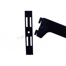 006207 Cerniera parete-nero 240 cm Tridecor