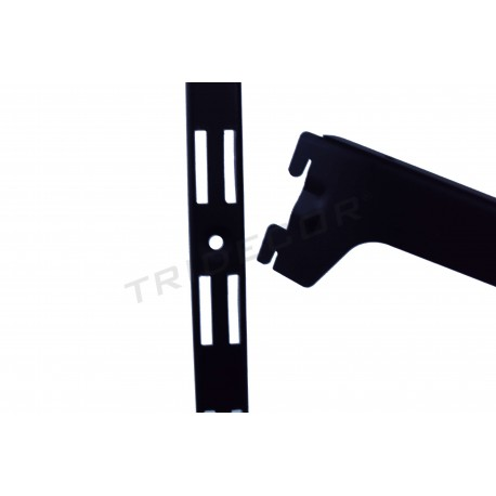 006207 Cremallera pared color negro 240 cm. Tridecor