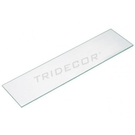 Vetro trasparente 90x25cm 8 mm di spessore, tridecor