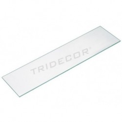 Vetro trasparente 120x20cm, spessore 8 mm, tridecor