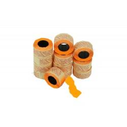 014038 Etiqueta naranja 2 líneas, 26x16 mm. 8 rollos. Tridecor