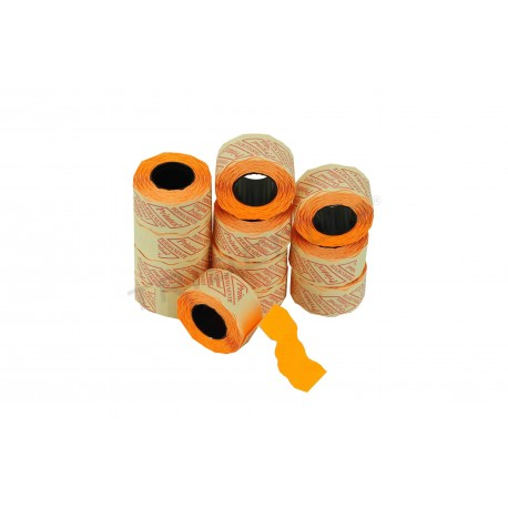 LABEL ORANGE, 2 LINES,26X16MM 8 ROLLS