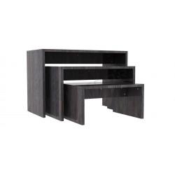Table exhibiting oak dark, tridecor