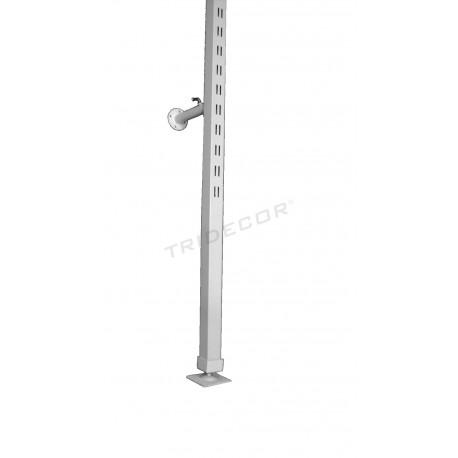 006195 Sistema de fecho de correr para lojas, cor branco 3 metros. Tridecor
