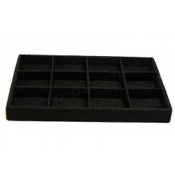 TRAY FOR JEWELRY, COVERED IN BLACK ROPE