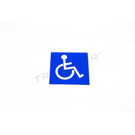 Cartel Movilidad reducida, 11x11cm, tridecor
