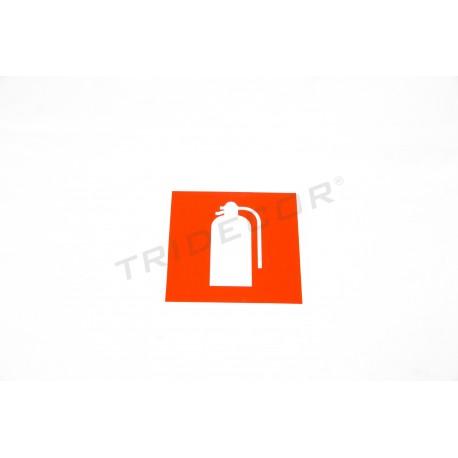 Cartel extintor 11x11cm
