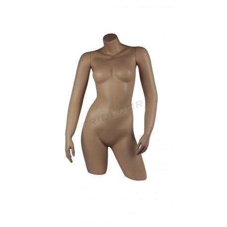 Busto de muller de carne con brazos
