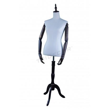 Modelo vintage feminino sem cabeça, braços articulados