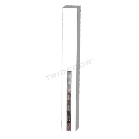 045629 Sistema de cremallera per a les botigues blanc fusta 240 cm Tridecor