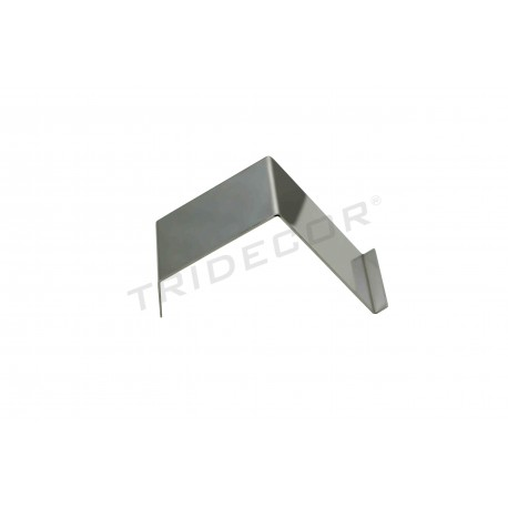 Expositor de acero cromado 13x5x7.5 cm, tridecor