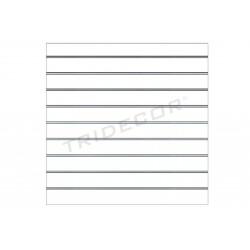 Panell de fulles mat blanc de 9,5 guies de 120x120 cm Tridecor