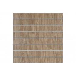 Panell de lama de roure clarito 7.5 guies de 120x120 cm, tridecor
