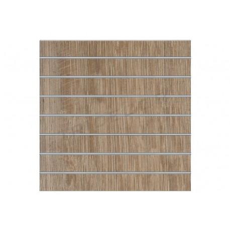 Panell de lama de roure clarito 7 guies de 120x120 cm, tridecor