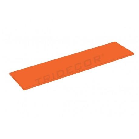 Balda de madera naranja 120x30cm 19mm tridecor - Balda de madera ...