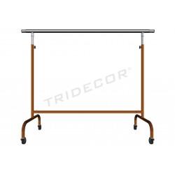 Cabideiro regulável braços extensíveis bronze 150x130x56cm tridecor