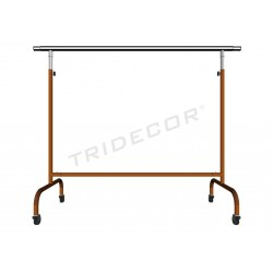 Garment rack adjustable extensible arms bronze 150x130x56cm tridecor