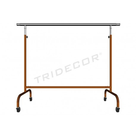 038910 Burro ropa extensible en color bronce 150x130x56 cm, tridecor