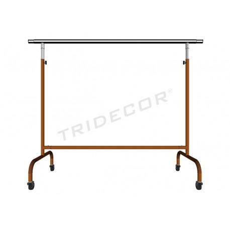 Garment rack adjustable extensible arms bronze 150x130x56cm tridecor