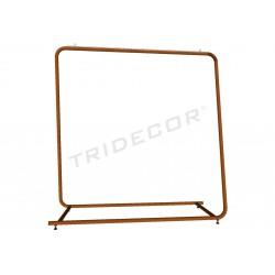 Abrigo rack gran bronce 154x150x50 cm, tridecor