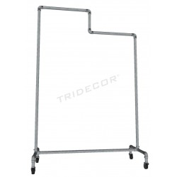 Coat rack zinc-plated steel 2 heights with brake, tridecor