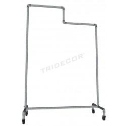 Porte-manteaux en acier galvanisé 2 hauteurs avec frein, tridecor