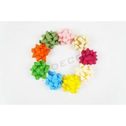 Estrela adhesivos varias cores 5x5x3cm 100 unidades