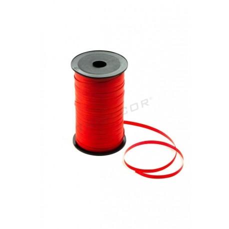 Cinta regalos color rojo, 100 metros, tridecor