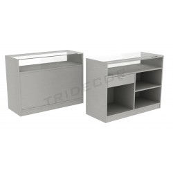 Counter in gray color, 120 cm, tridecor