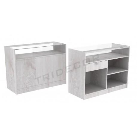 Desk color Oak W, 120 cm, tridecor