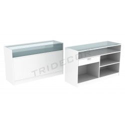 Counter, color white, 150 cm, tridecor