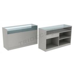 Counter in gray color, 150 cm, tridecor