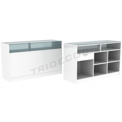 Mostrador color blanco, 180 cm, tridecor