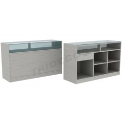 Mostrador en color gris, 180 cm, tridecor