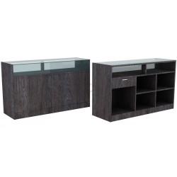 Desk color Oak dark, 180 cm, tridecor