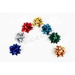 Estrelas adesivas cores metálicas 10mm 100 unidades