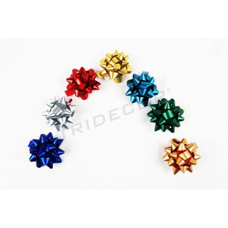 Stelle adesive colori metallici 10mm 100 pezzi