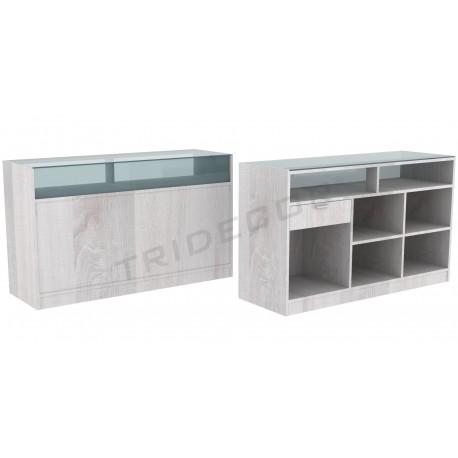 Desk color Oak W, 180 cm, tridecor