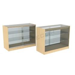 Mostrador vitrina color abedul, 120cm, tridecor