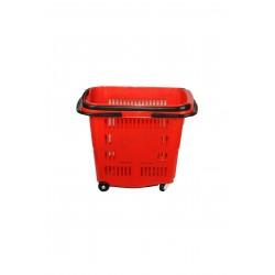 Cistella de la compra, de color vermell. 50 litres, tridecor