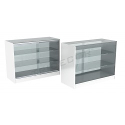 Mostrador vitrina color blanco 120cm