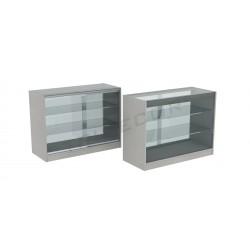 Balcão vitrine em cor cinza 120cm