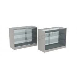 Mostrador vitrina en color gris 120cm