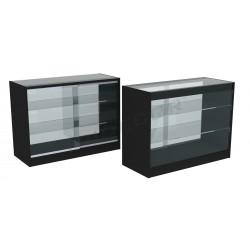 Balcão vitrine cor preto 120cm