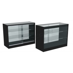 COUNTER TOP DISPLAY CASE BLACK,120CM