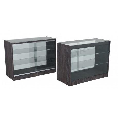 Mostrador vitrina color oak oscuro 120cm