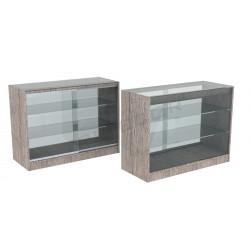 Balcão vitrine cor carvalho ou, 120 cm, tridecor