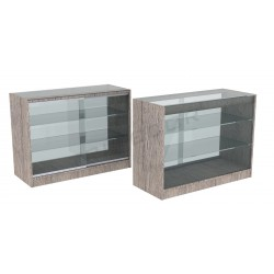Counter display case, oak color, or 120 cm, tridecor