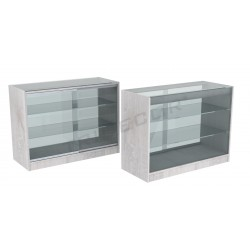 COUNTER DISPLAY CASE, OAK COLOR W,120CM